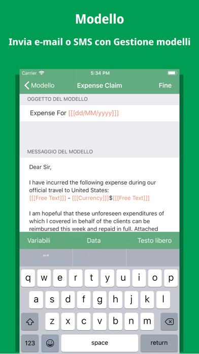 Screenshot of Gestione modelli1