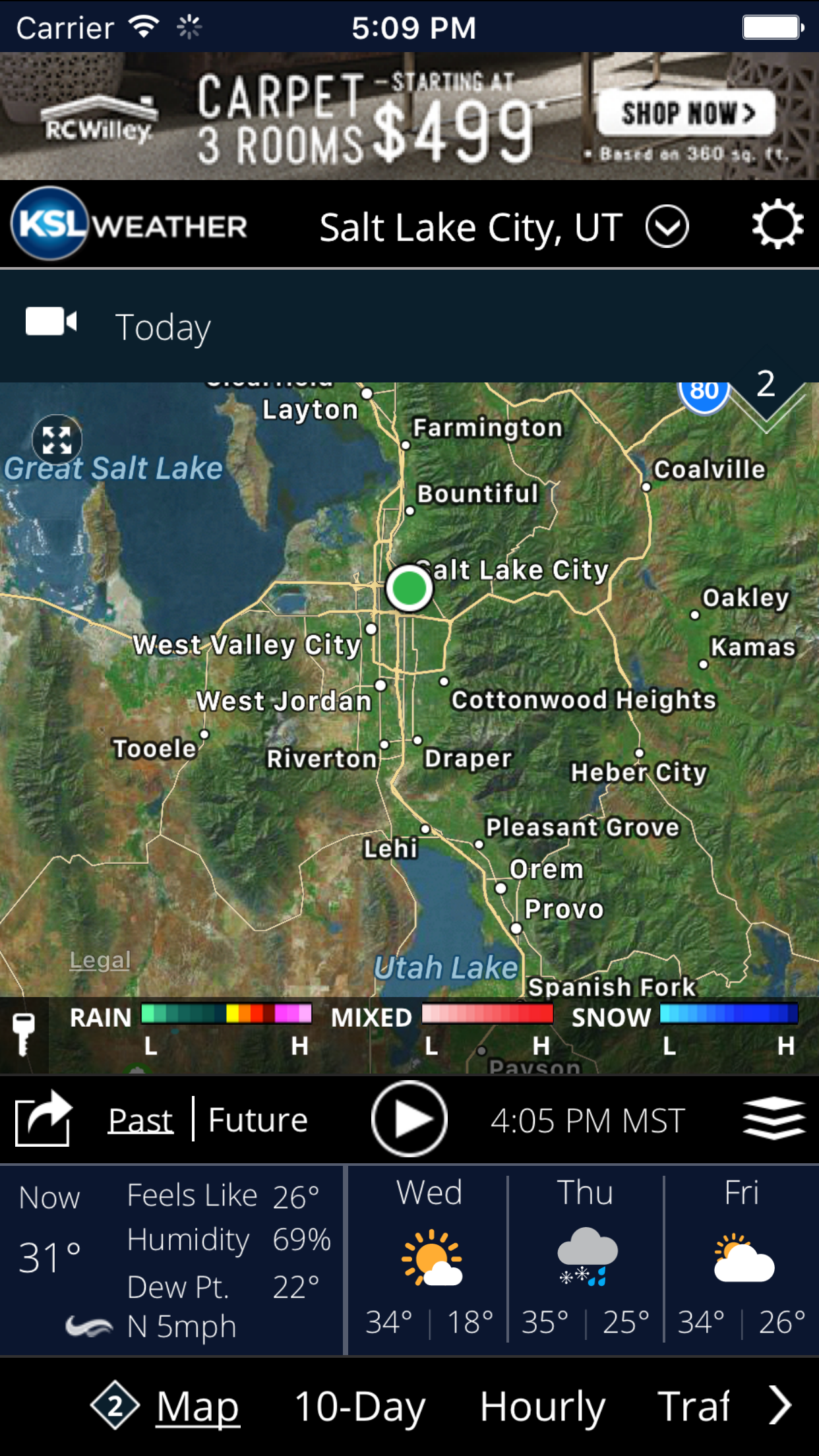 KSL Weather Screenshot