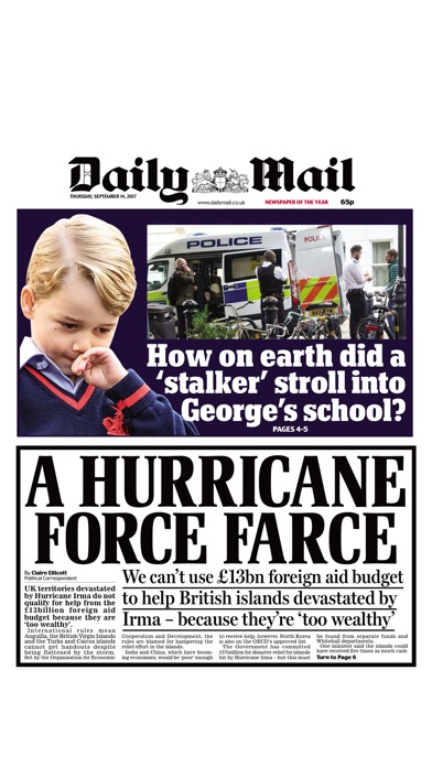 Screenshot for Daily Mail Newspaper in United States App Store