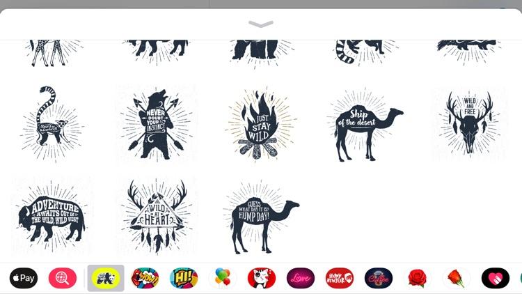 Ink Wildlife Quote Sticker App screenshot-4