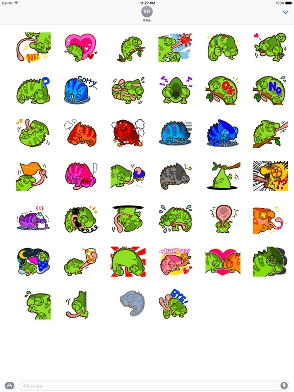 Cute Chameleon Sticker screenshot 4