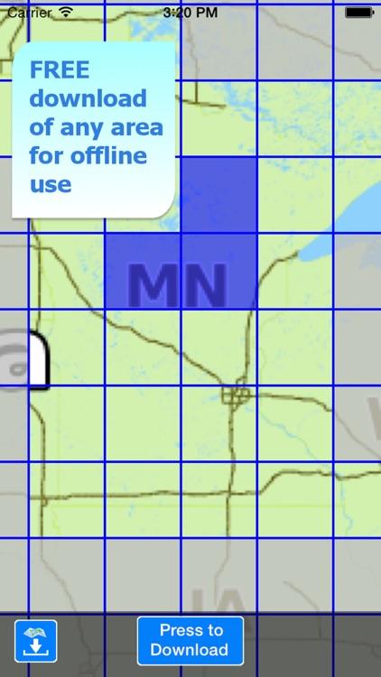 Aqua Map Minnesota Lakes HD screenshot-4