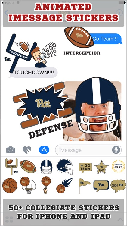 Pittsburgh Panthers Animated+Stickers for iMessage