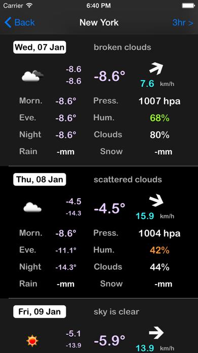 My Weather Screenshot