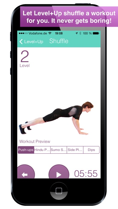 Level+Up Exercise Workout screenshot one