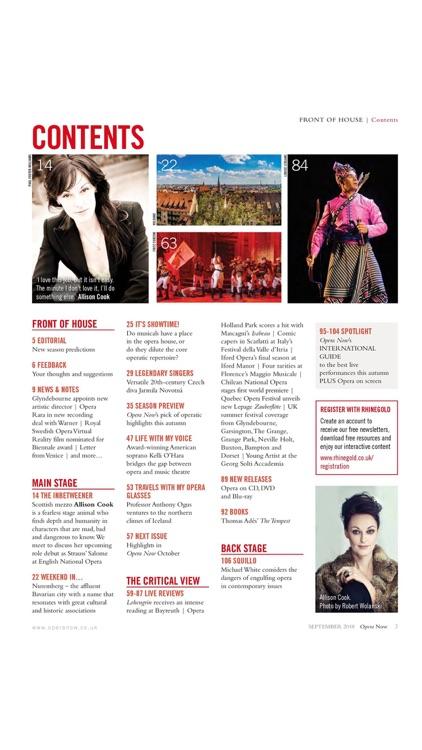 Opera Now Magazine