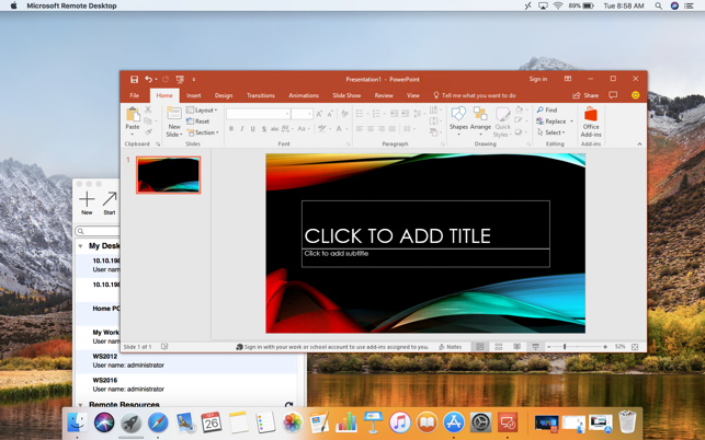 showing desk web edition for mac