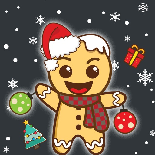 Gingerbread Man Emoji Stickers