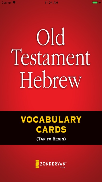 Old Testament Hebrew Cards