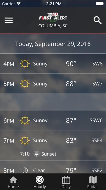 WIS News 10 FirstAlert Weather screenshot-4