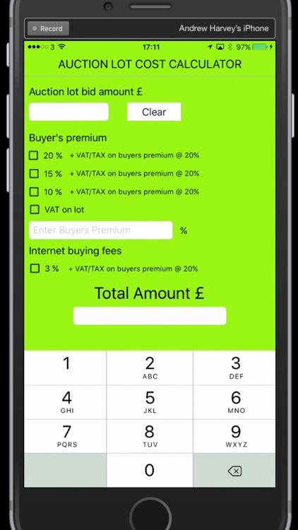 UK Auction Fee Calculator screenshot-3
