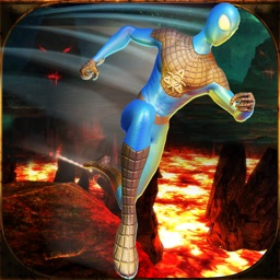 American Ninja Obstacle Course: Lava Game