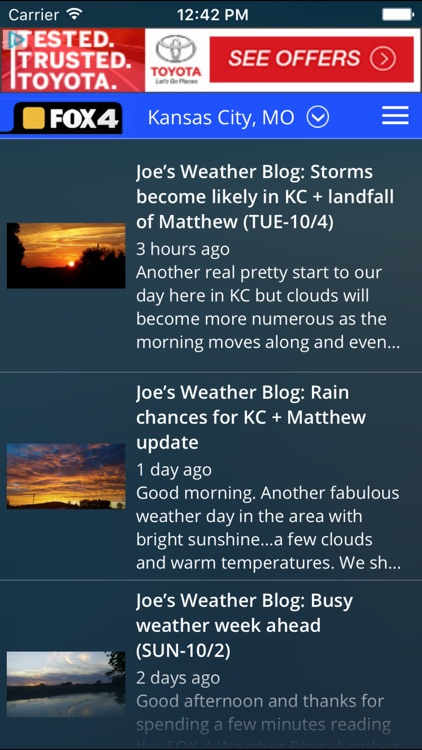 WDAF Fox 4 Kansas City Weather