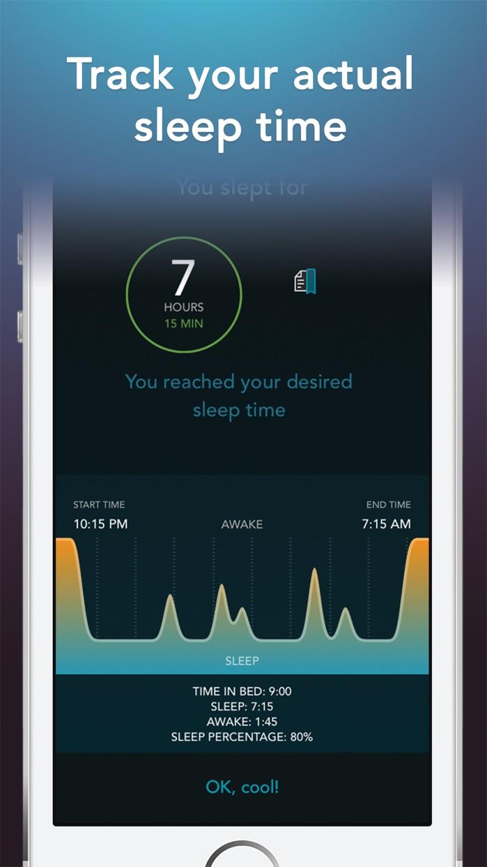 Sleep Science Alarm Clock Screenshot