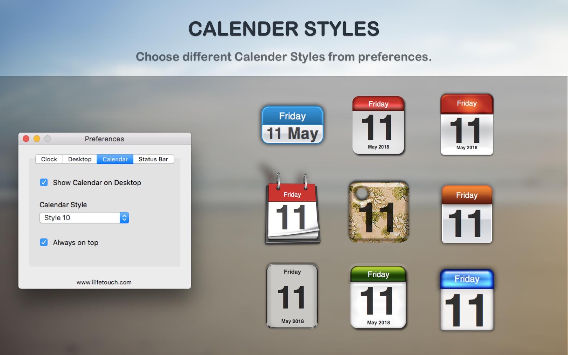 Dock Clock on the MacAppStore