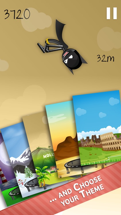 Stickman Trampoline screenshot-3