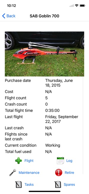 RC Flight and Battery Log