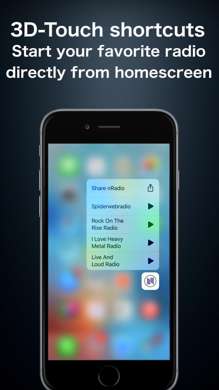 nRadio - Internet Radio App Screenshot