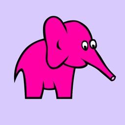 Pink Elephant Sticker Pack