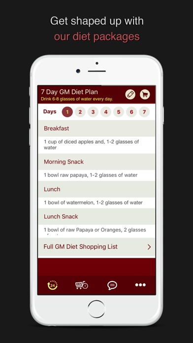 GM Diet 7 Day Meal Plan screenshot one