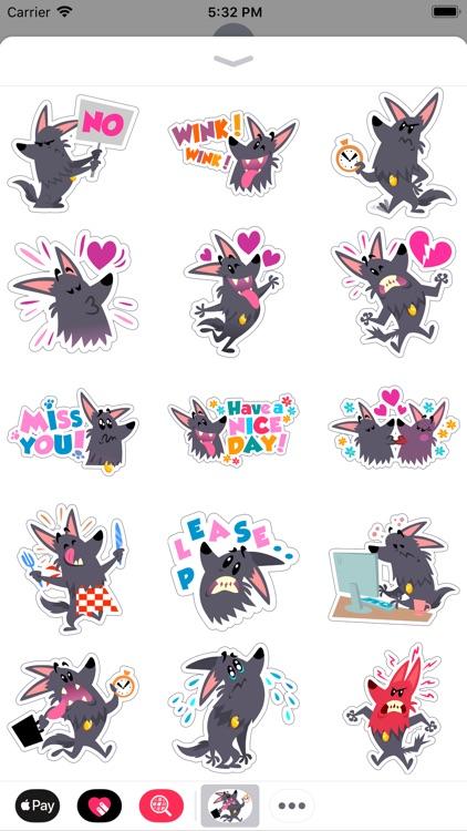 Cute Funny Dog Comic Stickers