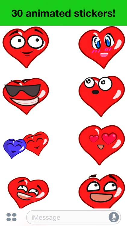 Heart - Animated cute stickers