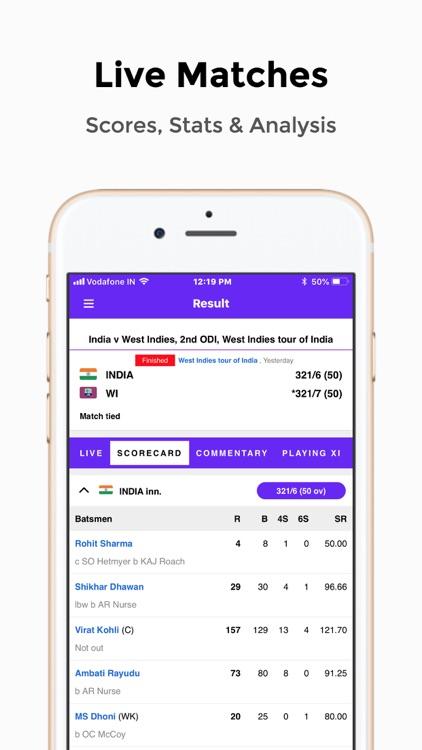 Live Cricket Score 2018