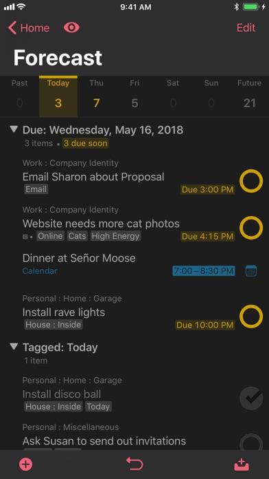 OmniFocus 3 Screenshots