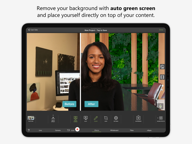 TouchCast Studio Screenshot
