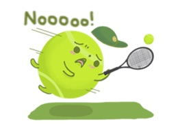 Let's play tennis together with these lovely tennis ball stickers