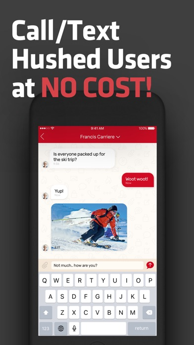 Hushed Second Phone Number app image