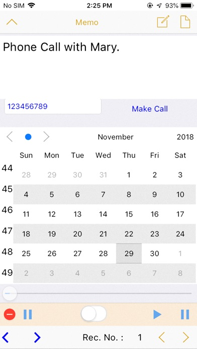 CallPhoneCall - Telephone Memo screenshot 4
