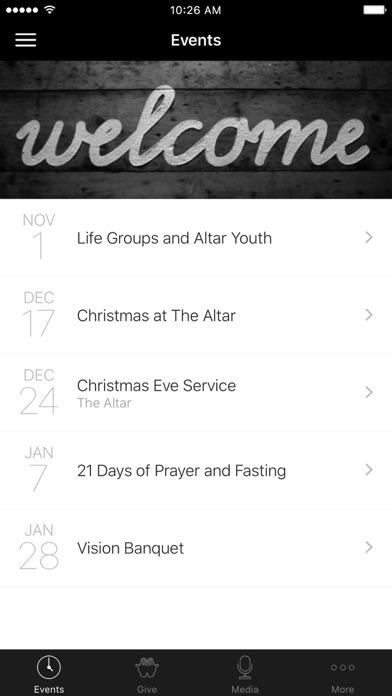 The Altar Church App screenshot 1