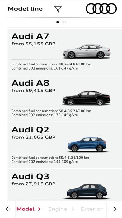 Audi Configurator UK screenshot two