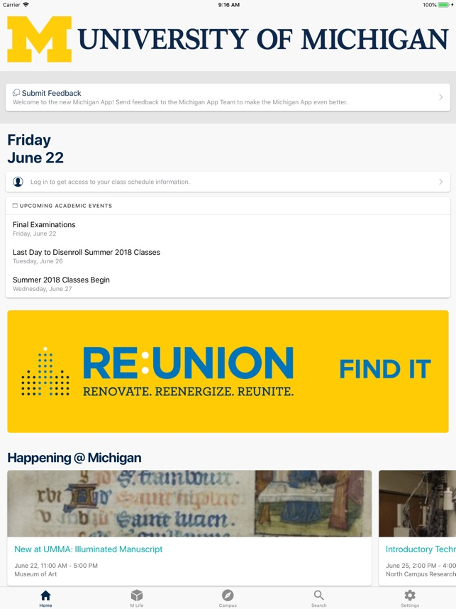 University of Michigan on the App Store