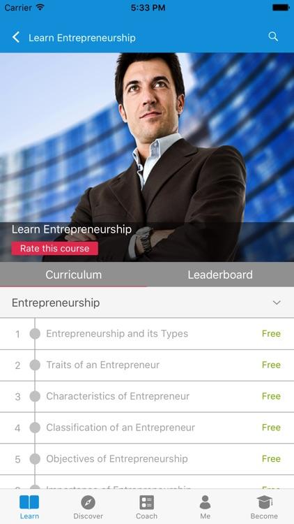 Learn Entrepreneurship