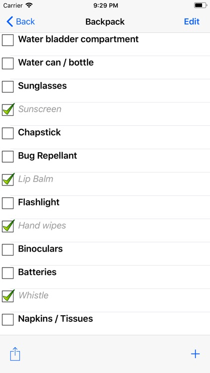 Backpacking Checklist screenshot-2