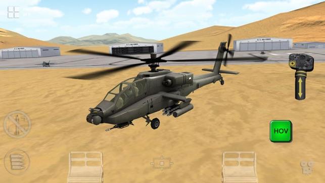 Apache 3D Sim Flight Simulator Screenshot