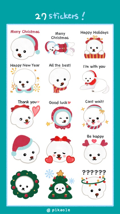 Christmas bichon Yallet screenshot-1