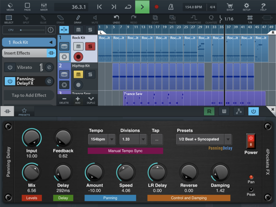 Panning Delay AUv3 Plugin screenshot 4