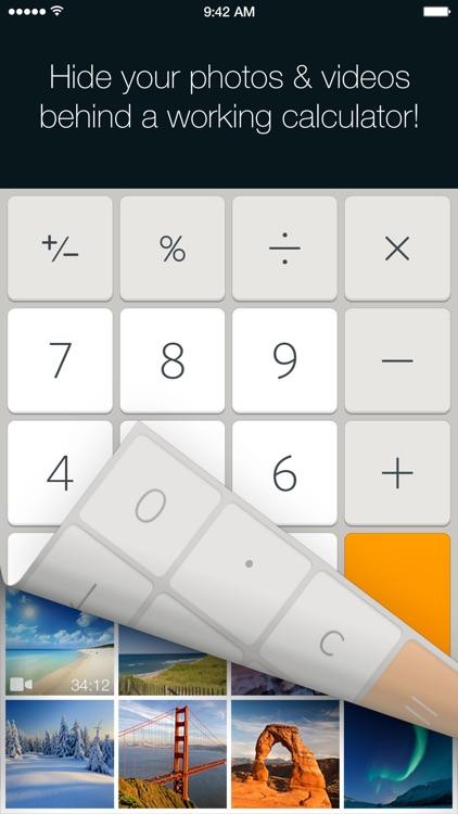 Secret Calculator Photo Vault: Lock, hide pictures
