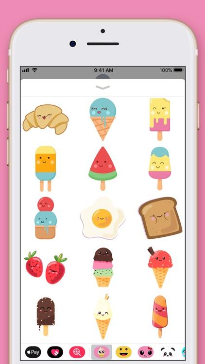 Cute Food Kawaii Stickers screenshot-3