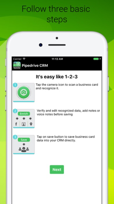 Card reader for pipedrive crm app app store screenshots reheart Image collections