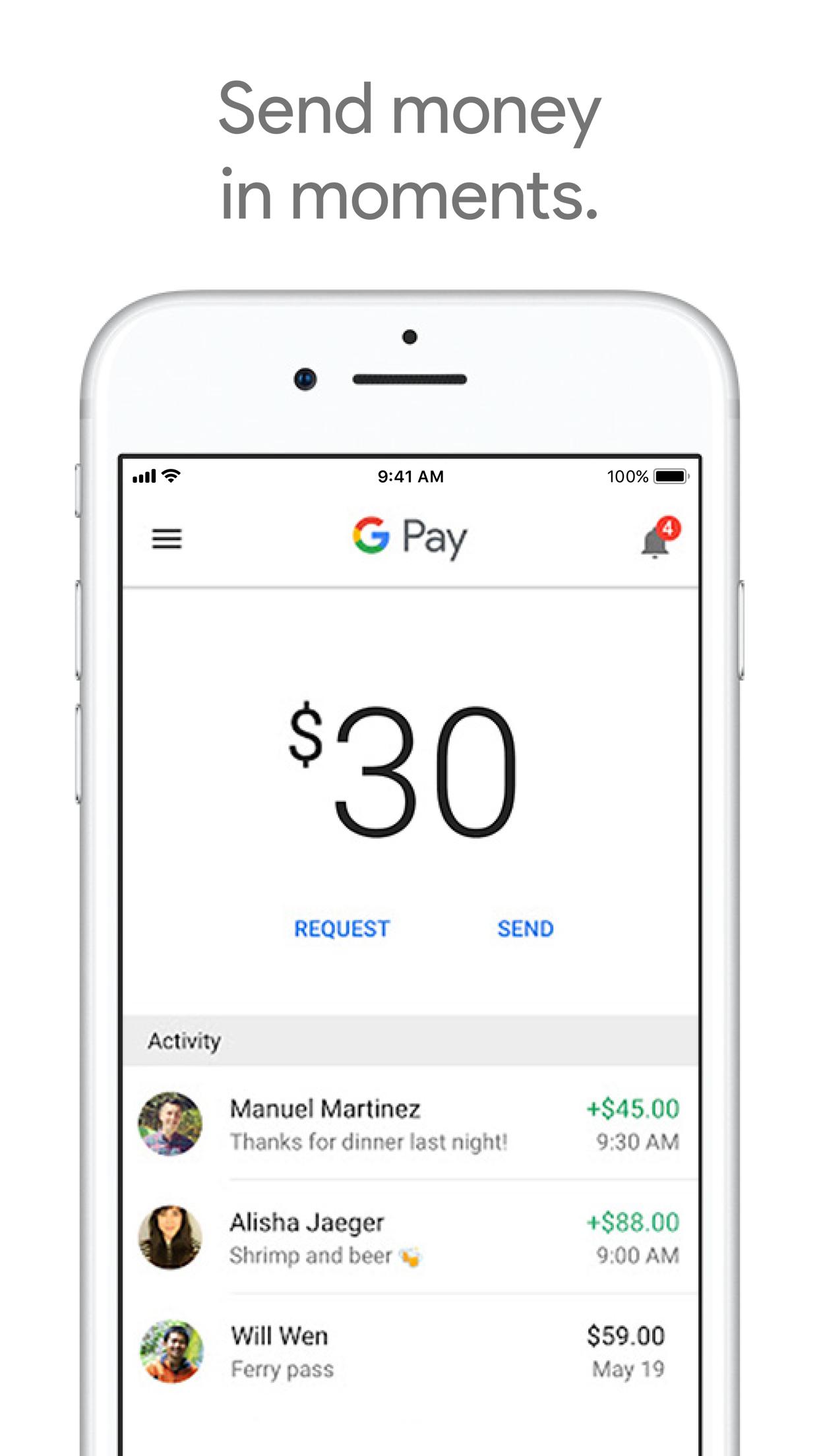Google Pay Send Screenshot