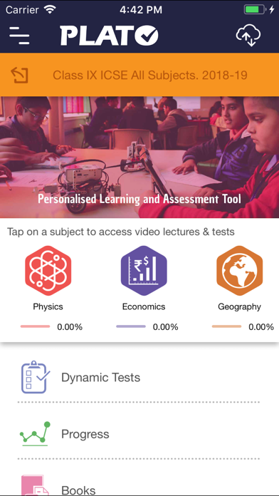 PLATO - Personalised Learning screenshot two