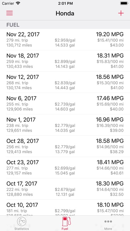 Road Trip MPG Lite screenshot-1