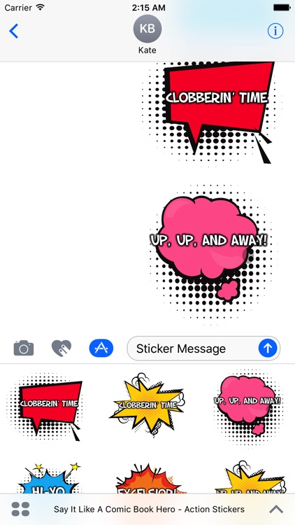 Say It Like A Comic Book Hero - Action Stickers screenshot-4