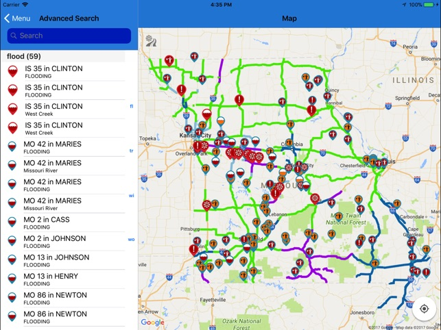 Modot Travelers Map MoDOT Traveler Information on the App Store Modot Travelers Map