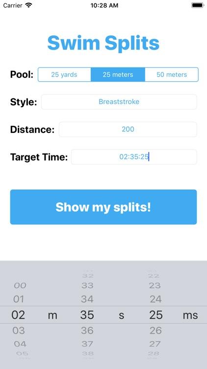 Swim Splits
