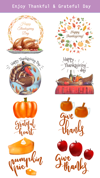 Thanksgiving Watercolor Set